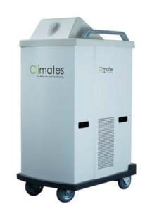 Desinficering med Climates DX1 robotteknologi